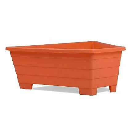 Sharpex Triangle Flower Pot (Orange)