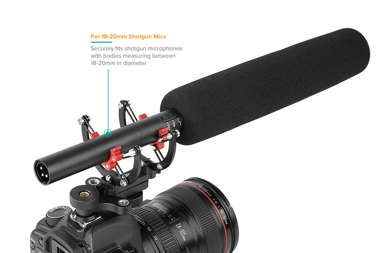Audio-Technica Other 18-22mm Diameter Shotgun Microphones Azden Sennheiser Movo SMM300 PRO Microphone Shock Mount with 8-Point Silicone Suspension System for Rode