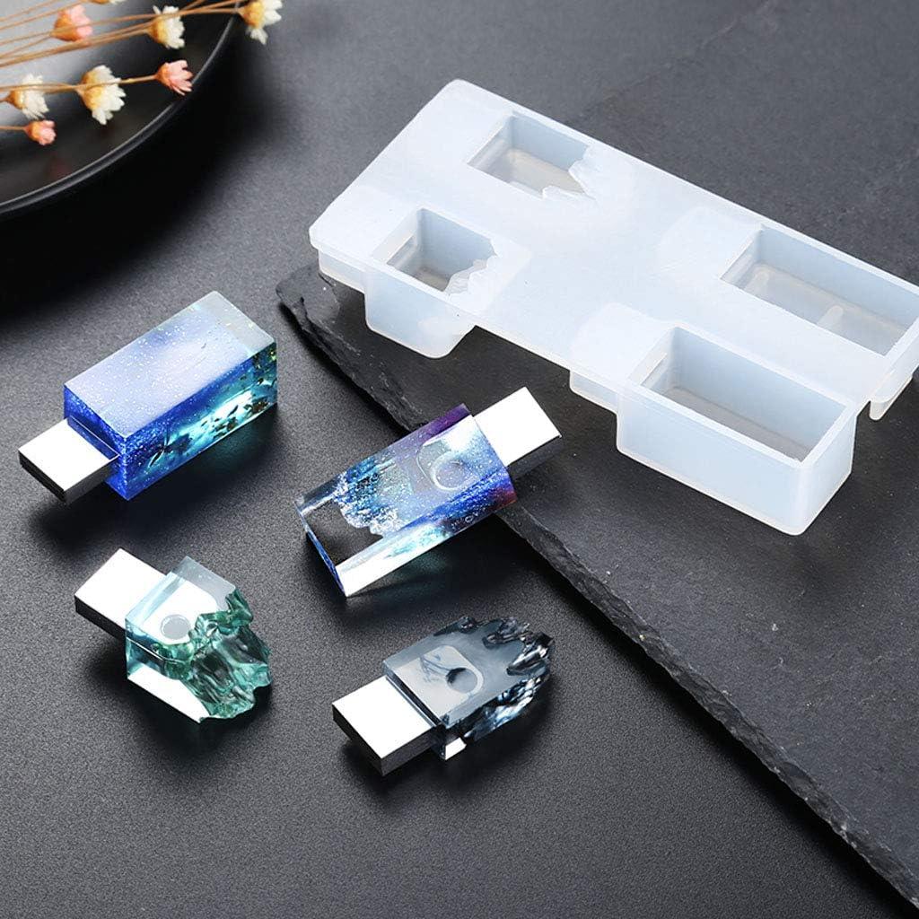 PAMENG Set di stampi in Resina USB per Neve da Neve Fai-da-Te con Arte Artigianale in Resina epossidica con Driver USB 8G