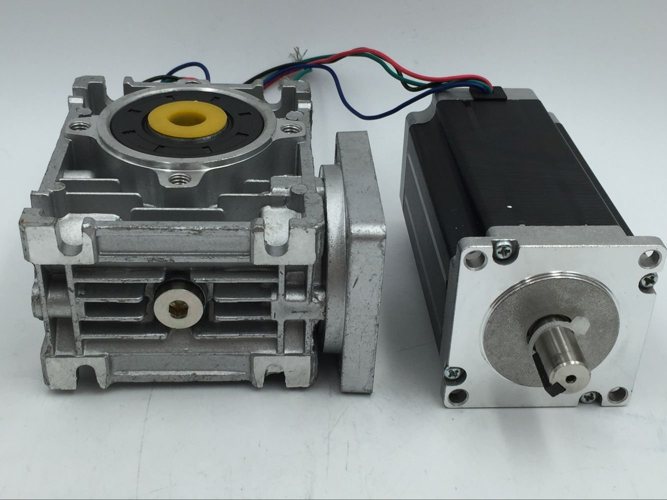 Nema23 Stepper Motor L112mm 3N.m Gear Ratio 10:1 14mm Keyway Shaft Gearbox Speed Reducer CNC DIY Router