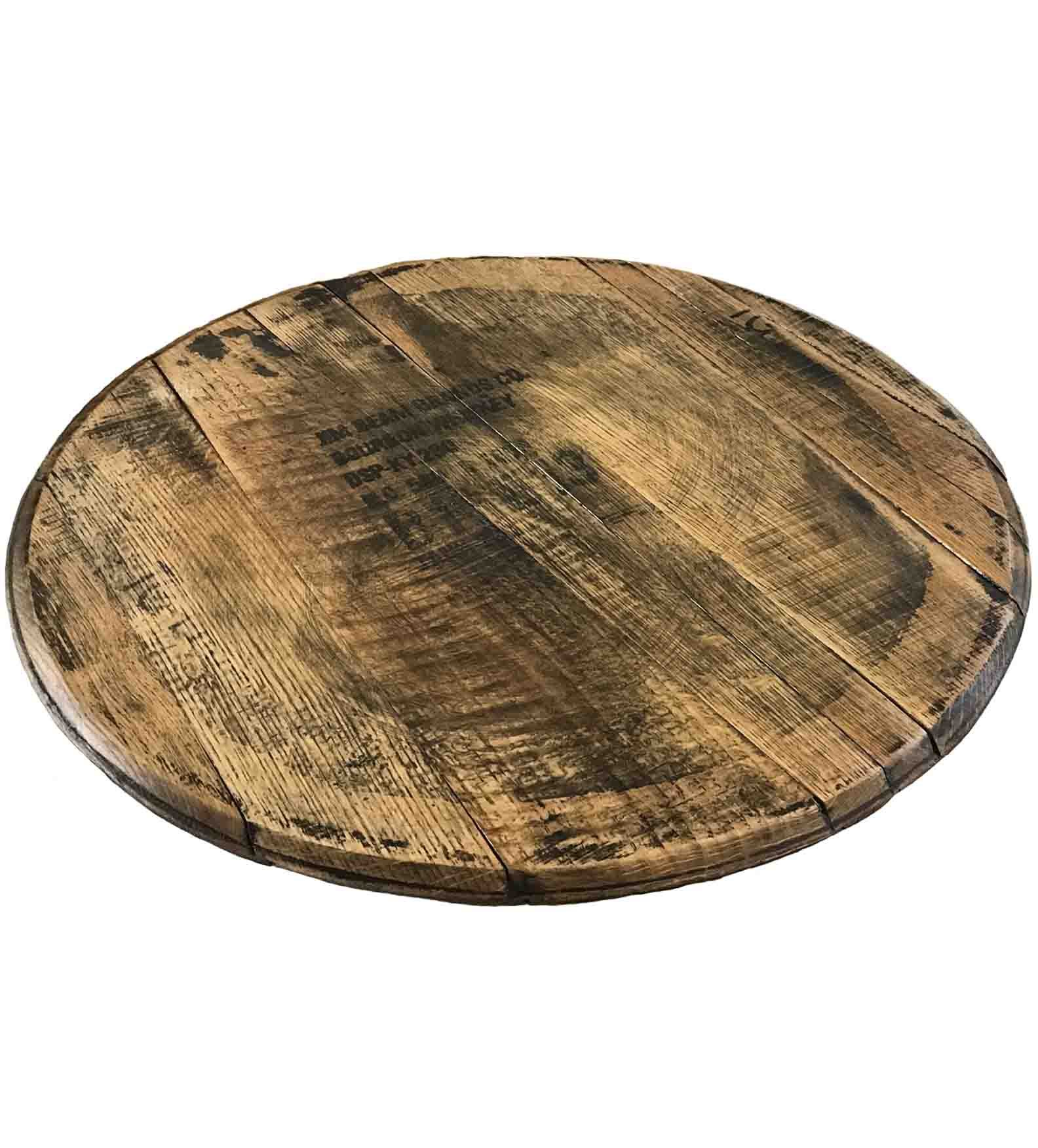 Authentic Jim Beam Whiskey Bourbon Barrel Lazy Susan, 21-Inches by Rustic Wall Co. by Rustic Wall Co.