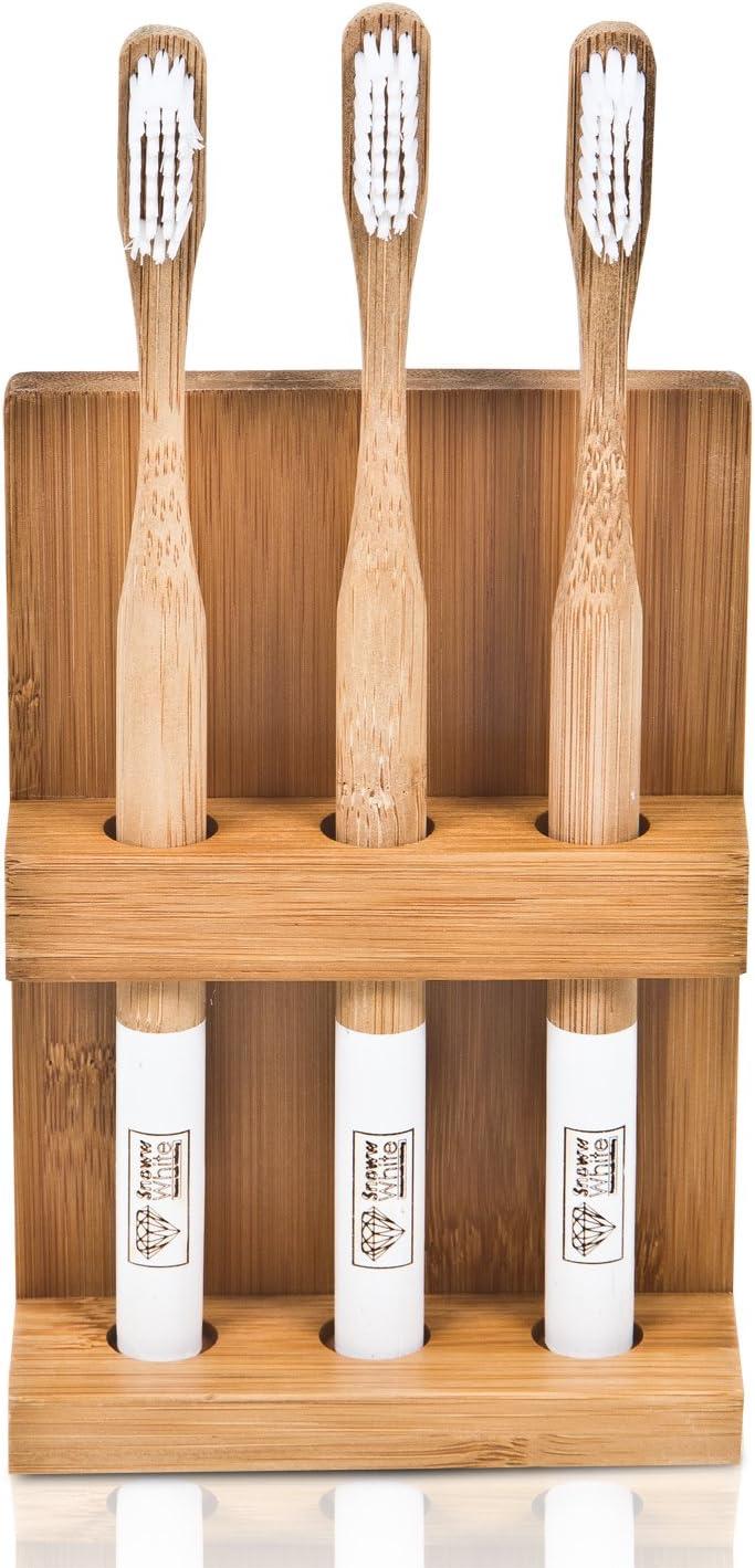 InterDesign 85242EU Formbu Porte-Brosse /à Dent Transparent//Bambou