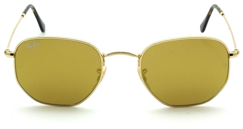 3c8398b2d7ec3 Amazon.com  Ray-Ban RB3548N HEXAGONAL FLAT LENSES Mirrored Sunglasses 001 93