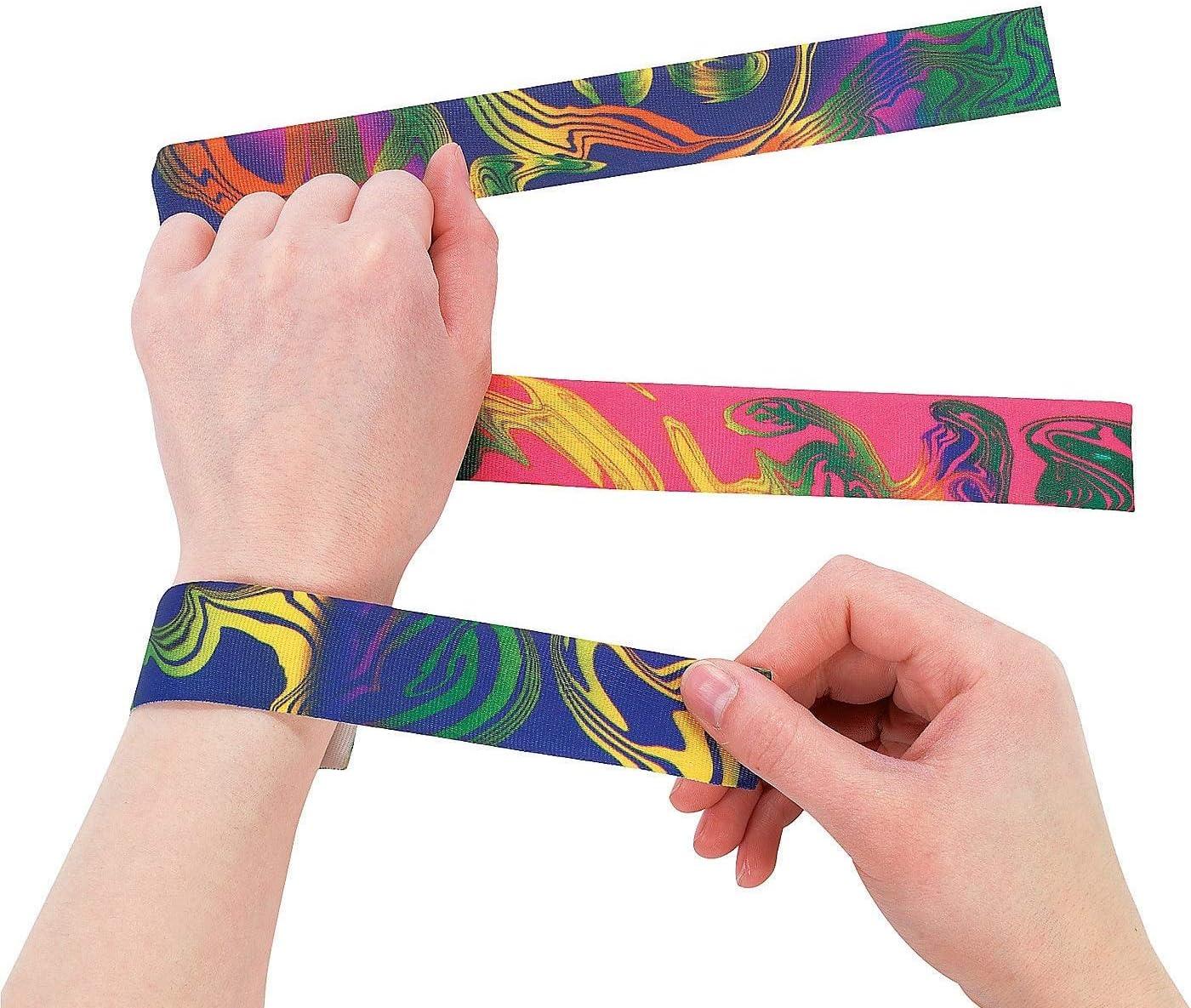 Dozen Nylon Tie-Dyed Slap Bracelets: Amazon.es: Juguetes y juegos