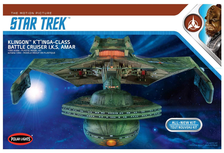 Round 2, LLC. Polar Lights 1 350 Star Trek Klingon K't'inga, PLL950
