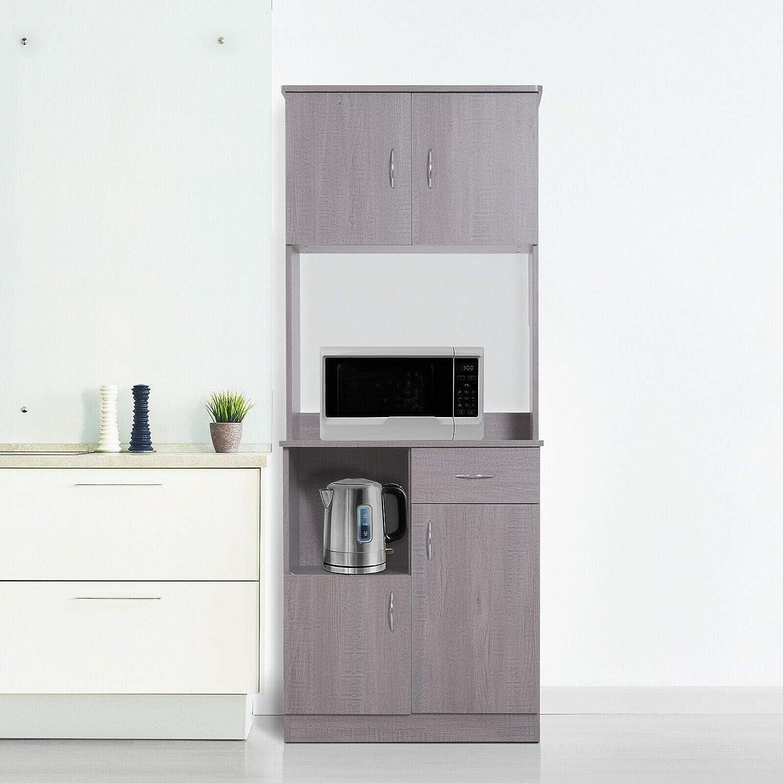 Amazon Com Modern Kitchen Buffet Server Cabinet Pantry