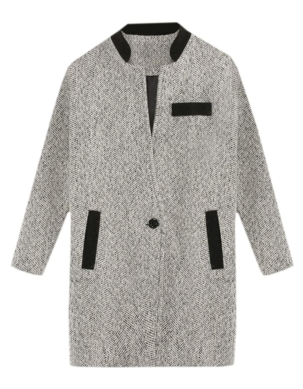 Zago Women's Stand-up Collar Wild Long Sleeve Top Coat