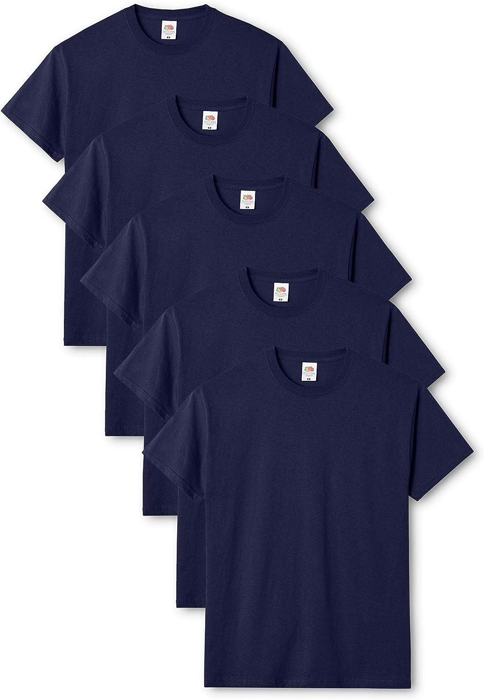 Fruit of the Loom Camiseta (Pack de 5) para Hombre