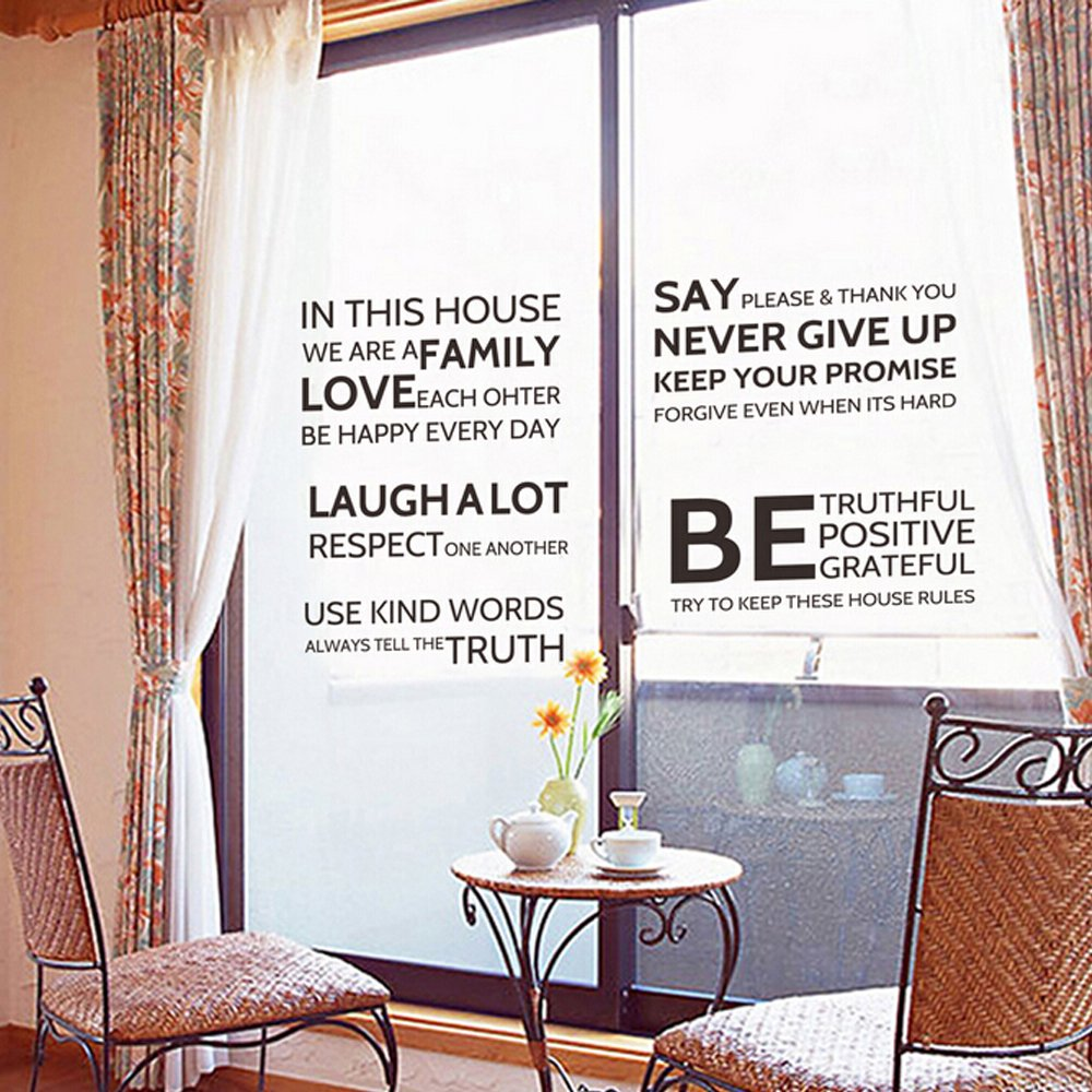 So cool store pvc murals decal house wallpaper home paper wall sticker bedroom babies kids living room art picture decoration black english vocabulary