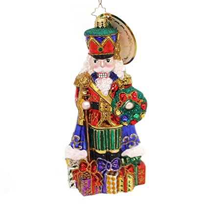 christopher radko distinguished nut nutcracker limited edition christmas ornament - Nutcracker Christmas Ornaments