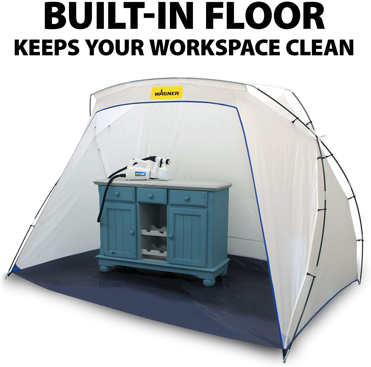 Amazon Com Wagner Studio Spray Tent With Built In Floor Portable Spray Paint Booth Spray Paint Tent Large Paintspray Shelter Tent Paint Spray Booth Tent Home Improvement