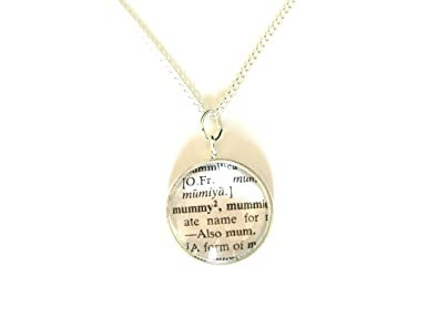 Mummy pendant necklace with dictionary word definition gift boxed mummy pendant necklace with dictionary word definition gift boxed mozeypictures Gallery