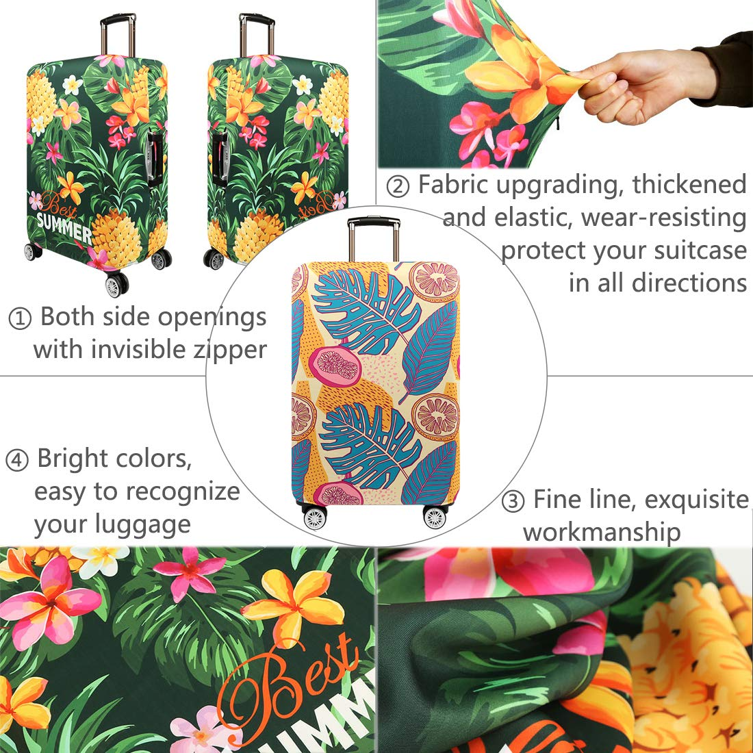 22-24luggage TRAVELKIN Thickened Luggage Cover 18//24//28//32 Inch Suitcase Spandex Protective Cover , New York M