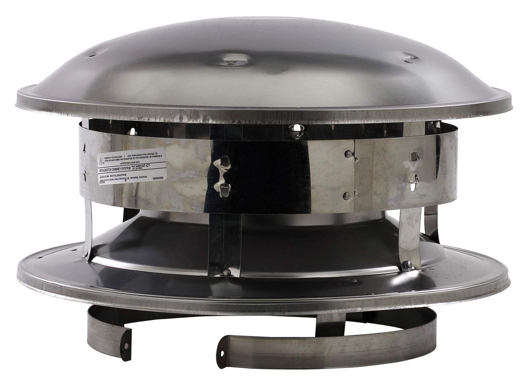 Selkirk Metalbestos 8T-CT 8-Inch Stainless Steel Round Top by Selkirk Metalbestos