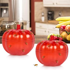 Stingmon 2 Pack Fruit Fly Traps Indoor, Fly Trap for Home, Gnat Killer for Indoor