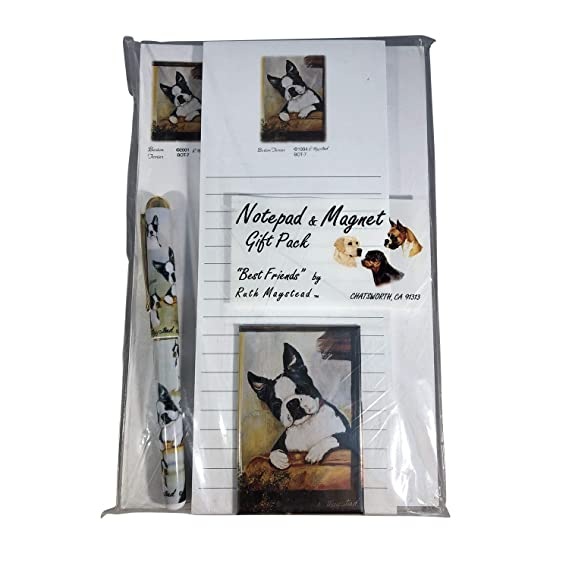 Gift Wrapping Paper w//matching Gift Card by Ruth Maystead BOSTON TERRIER