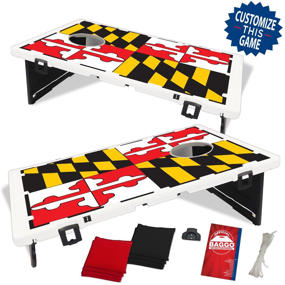 Maryland State Flag Baggo Bean Bag Toss Portable Cornhole Game