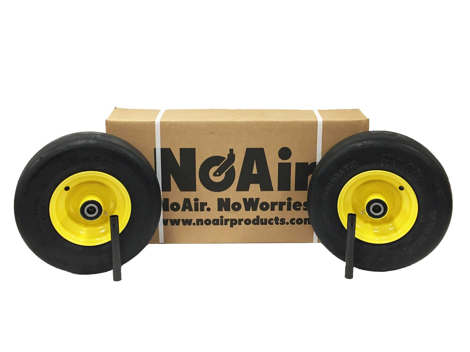 John Deere Flat Free Tire Assemblies 13x6.50-6 Yellow TCA19309 TCA16946 by NoAir (Image #1)