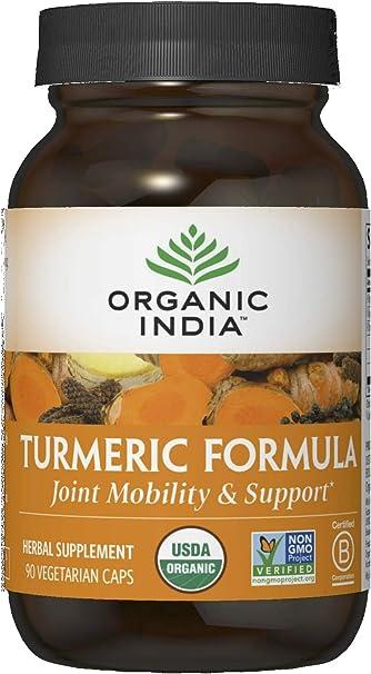 Organic India Turmeric Curcumin Herbal Supplement