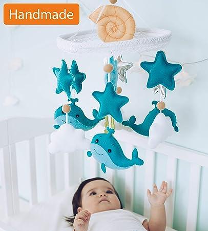 7890d690d9c96 Amazon.com   Baby Mobile Felt Nursery Crib Mobile Handmade Baby Shower Gift  for Boy (Ocean)   Baby
