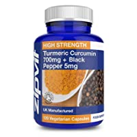 Organic Turmeric 700mg with Black Pepper | 120 Capsules | High Strength - Vegetarian | Soil Association Certified - Made in UK