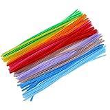 Steli di ciniglia Sungpunet 100pz scovolini per lavoretti artistici colori assortiti (6x 300MM, multicolor)