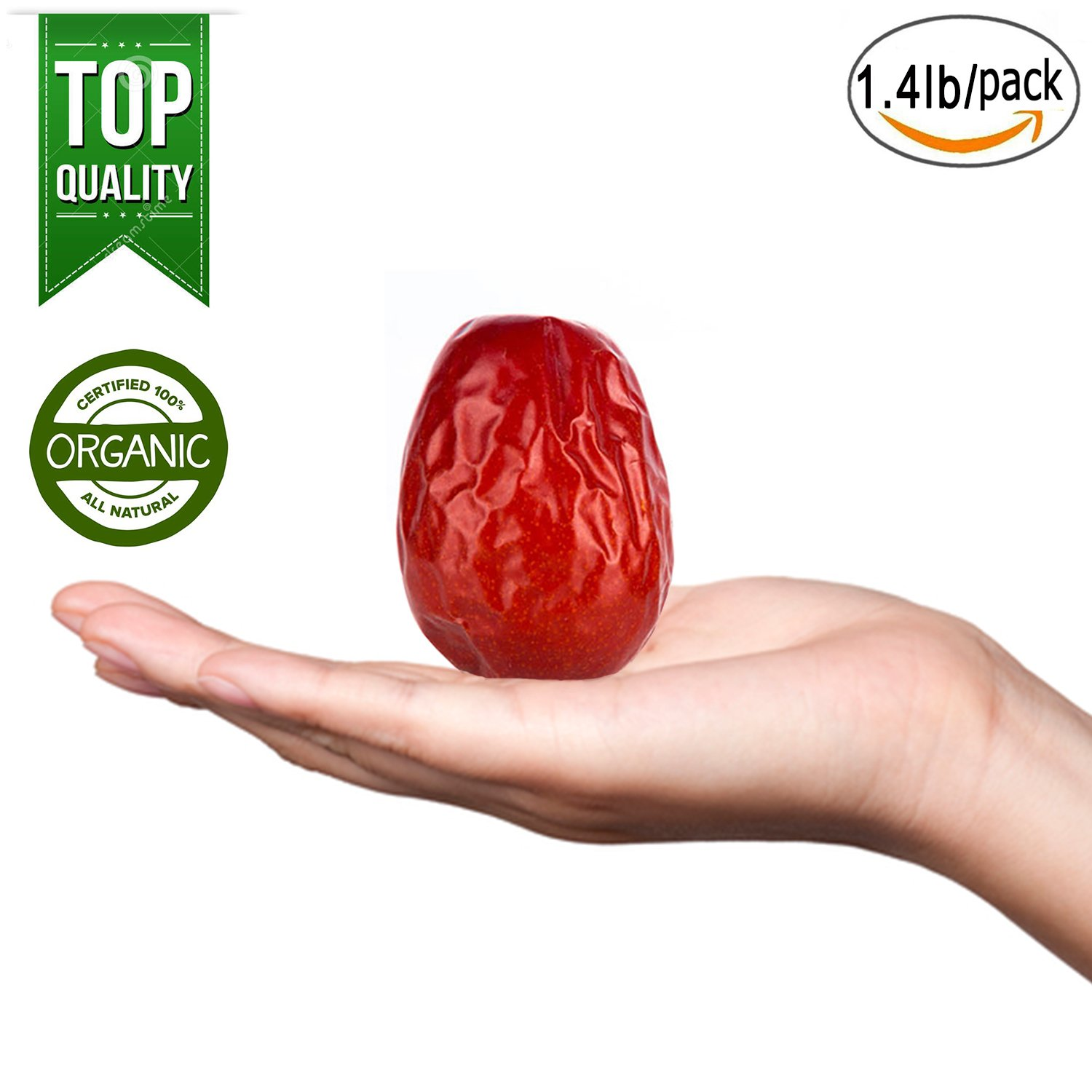 JUJUPANDA Super Red Dates Natural Jujube health dried fruit As big as an egg Chinese Red Dates Family volume Super Snacks Natural health dried fruit