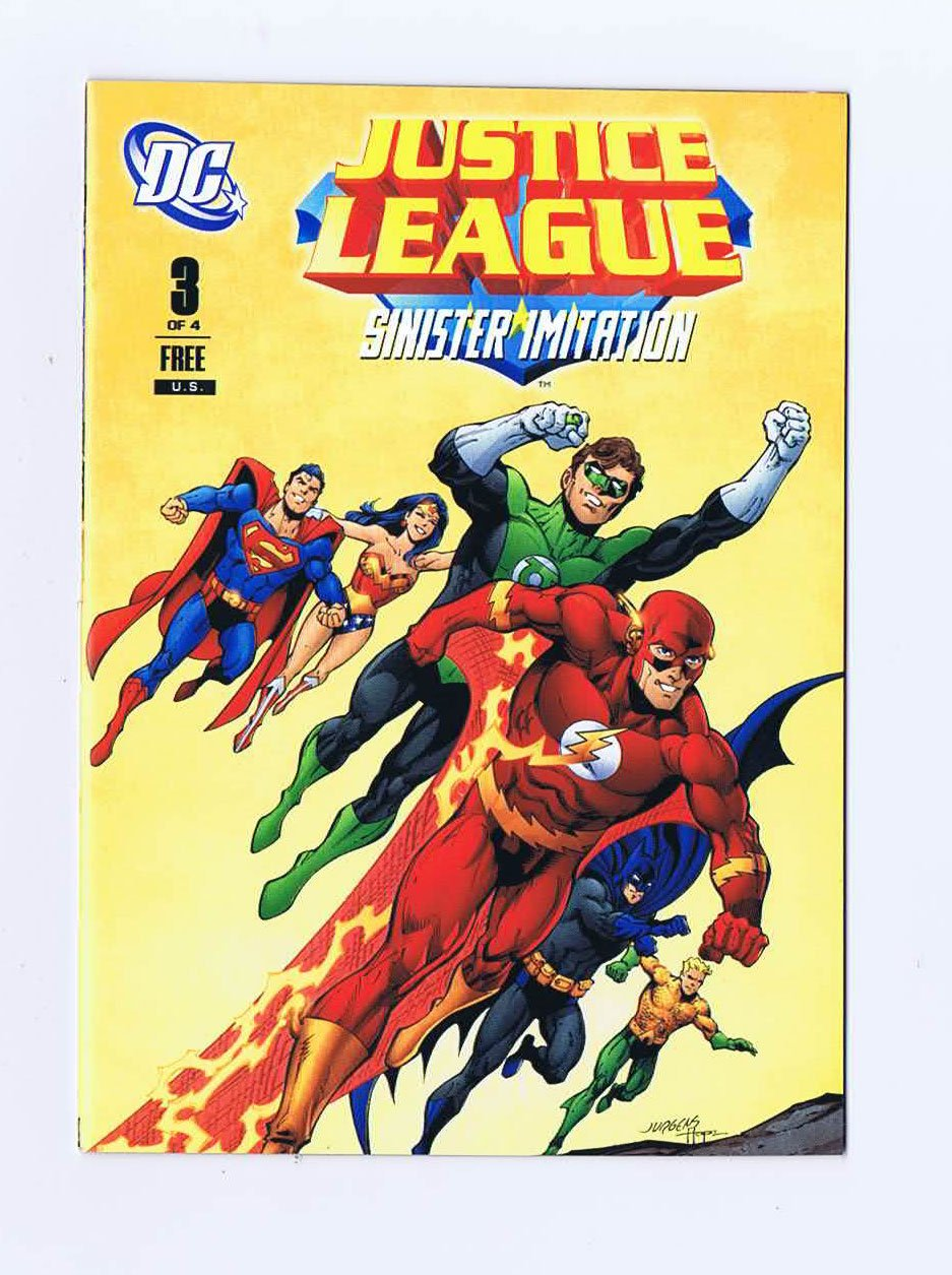 Read Online Justice League #3 Sinister Imitation 2011 Promotional General Mills Mini Comic PDF