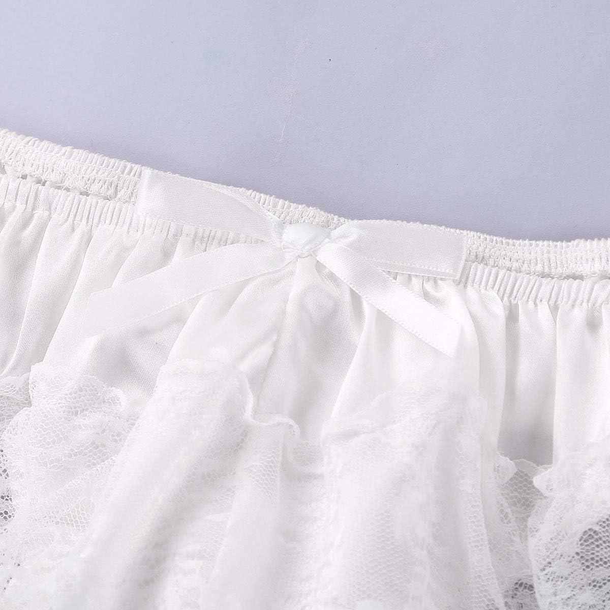 CHICTRY Homme String-Sexy sous-v/êtements Slip en Dentelle Transparent Taille Basse Homme Short de Bain Bikini Sissy-Lingerie-Erotique M-XL