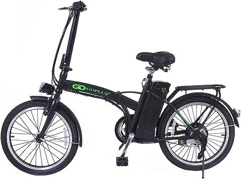 Bicicleta eléctrica plegable batería 36V-10ah Aoma motor LED Carga ...