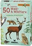 Moses Expedition Natur - 50 heimische Wald und Wildtiere | Bestimmungskarten im Set | Mit spannenden Quizfragen