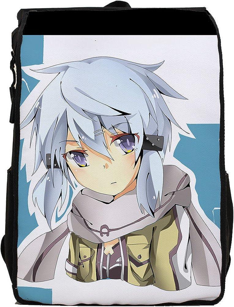 SiawaseyソードアートオンラインアニメKirigaya和人Kiritoコスプレキャンバスバックパックスクールバッグ B015V2HWOS