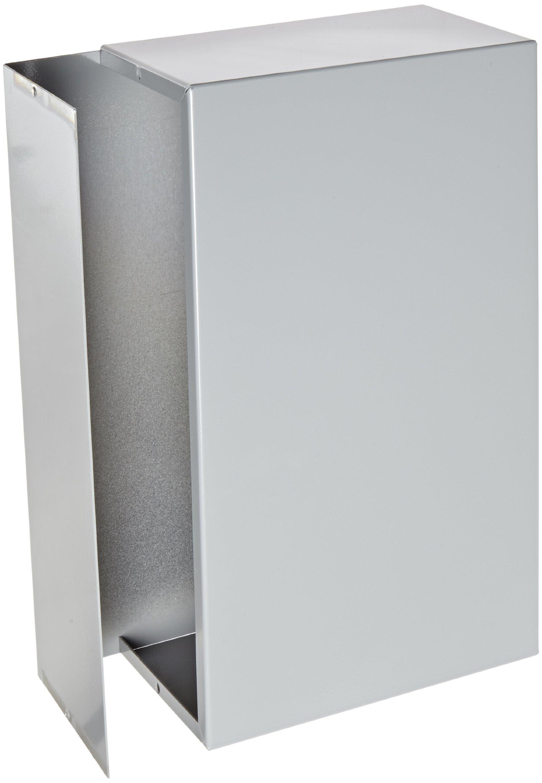 BUD Industries CU-2111-B Aluminum Electronics Minibox, 12'' Length x 7'' Width x 4'' Height, Smooth Gray Finish