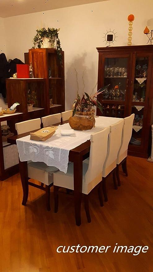 DOTBUY Housse de Chaise Extensible Universelle 1//4//6//10 pi/èces Amovible Lavable Moderne Couverture de Chaise pour Salle /à Manger D/écoration Mariage H/ôtel Fleur rouge,1 pi/èce
