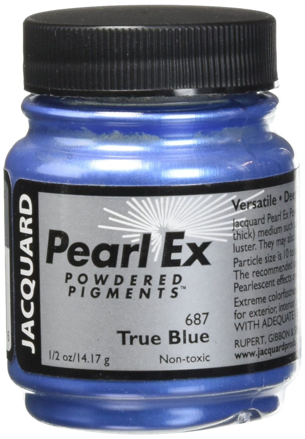 Pigmento Jacquard Pearl Ex 14gr. Azul verdadero