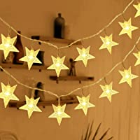 HOMVAN Guirnalda de Luces, Luces Estrellas de Hadas a Pilas 7,5 metros 50 luces LEDs Luces en Cadena para Navidad…