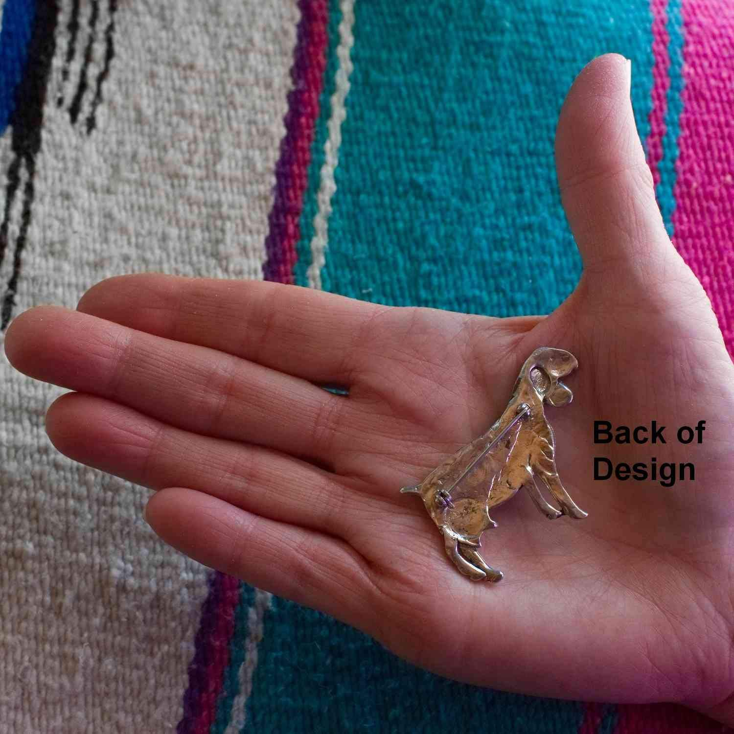 Sterling Silver Nubian Goat Pin by The Magic Zoo