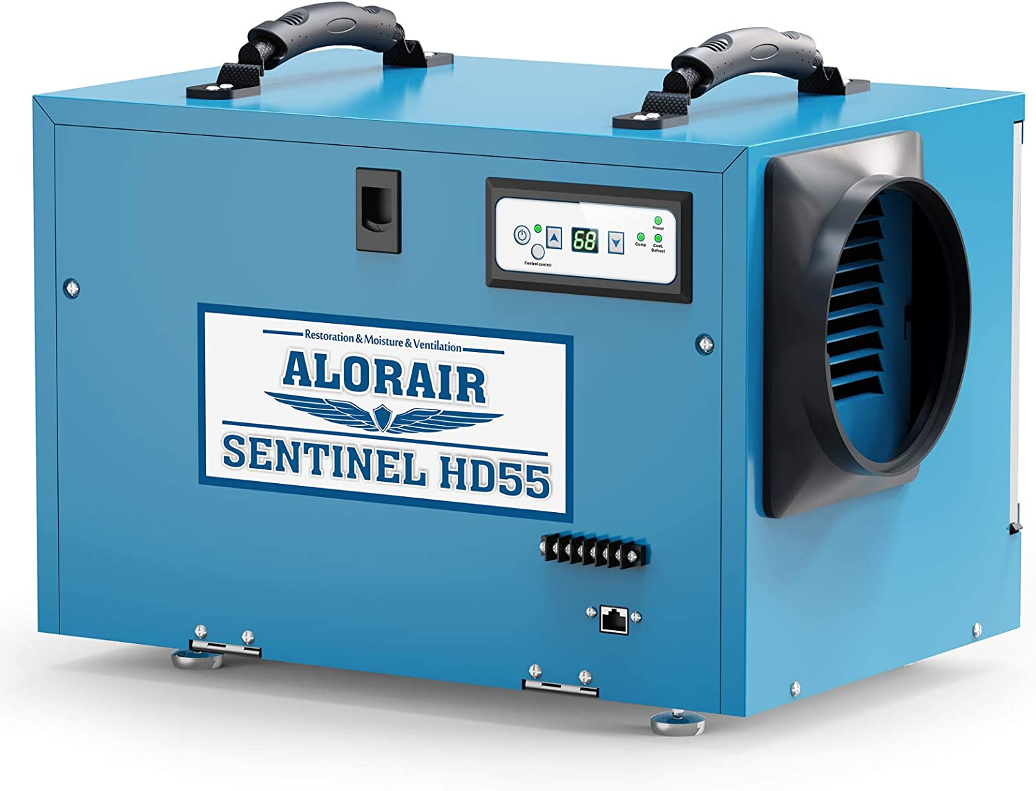 AlorAir Commercial Dehumidifier 113 Pint, with Drain Hose for Crawl Spaces, Basements, Industry Water Damage Unit, Compact, Portable, Auto Defrost, Memory Starting, 5 Years Warranty, Sentinel HD55