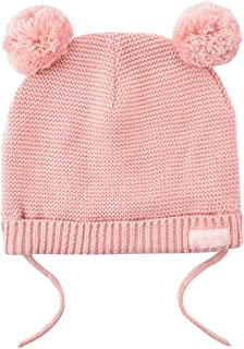 Aablexema Baby Winter Hat with Pom Pom, Toddler Girl Boy Warm Knit Beanie Hat Chin Strap