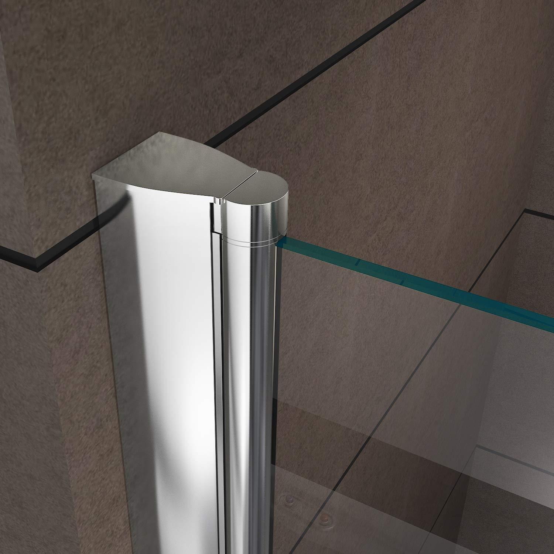 i-flair 180 cm Hohe Duschtür aus 6mm Sicherheitsglas Satiniert mit Nanobeschichtung 100-104cm Alle Größen