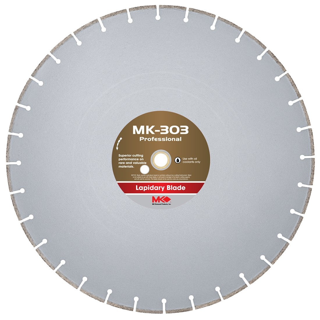 Disco de Diamante MK DIAMOND 156729 lapidario de corte húmedo MK303 18 pulg.