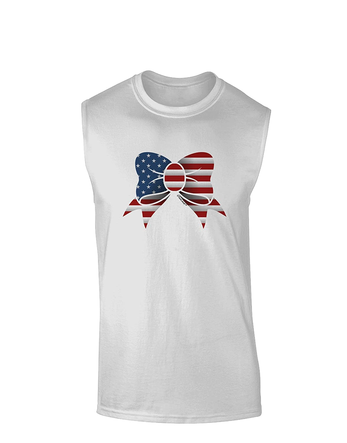 TooLoud Patriotic Bow Muscle Shirt