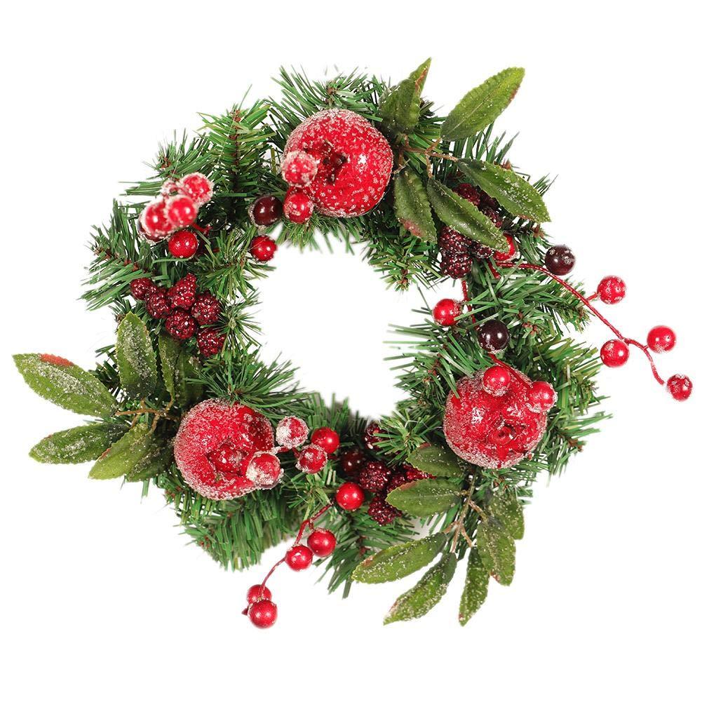iStary 2018 Weihnachtskranz Tü rkranz Mit Kugeln Garland Decor Kü nstliche Kranz Weihnachtsschmuck Dekor Thanksgiving Dekorative Kranz Festlicher Weihnachtskranz Geschenk EN02739_TWiSS