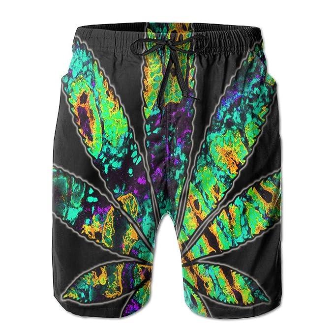 09cf4c203e JINYOUR Complex Pattern Weed Men's Quick Dry Swim Trunks Beach Shorts  Boardshorts   Amazon.com