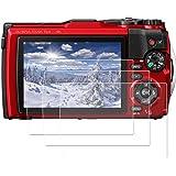TG-6 TG-5 screen protector, 3 Packs Fit for Olympus Tough TG-5 TG-6 waterproof camera, tough TG5 TG6 9H Hardness tempered gla