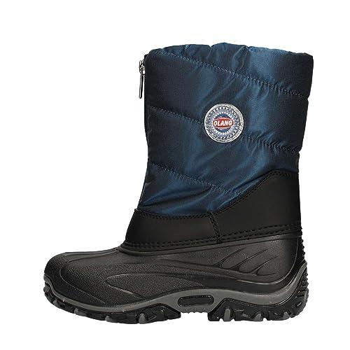 709502ca2b65 Olang Baby Boys  Leather BMX Snow Boots 39-40 EU Blue  Amazon.ca ...