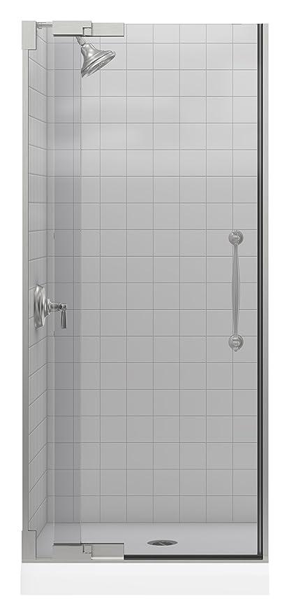 Kohler K 705736 L Nx Finial Heavy Glass Pivot Shower Door Brushed