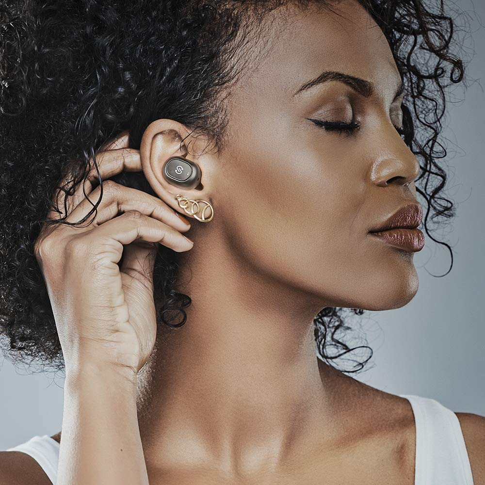 SoundPEATS TrueFree True Wireless Earbuds Bluetooth 5.0 in-Ear Stereo Bluetooth Headphones with Microphone Wireless Earphones 15 Hours Playtime, Hands-Free Calls, One-Step Pairing by SoundPEATS (Image #6)