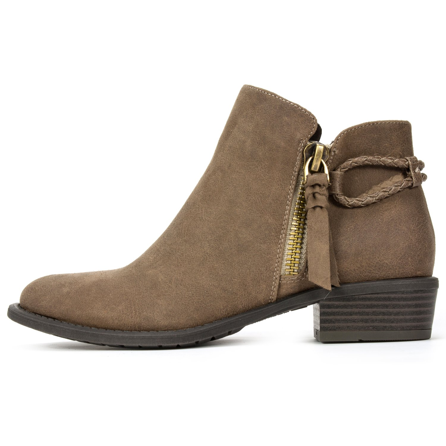 WHITE MOUNTAIN Women's Dart Ankle Boot B0761SX7VN 8 B(M) US|Dark Taupe