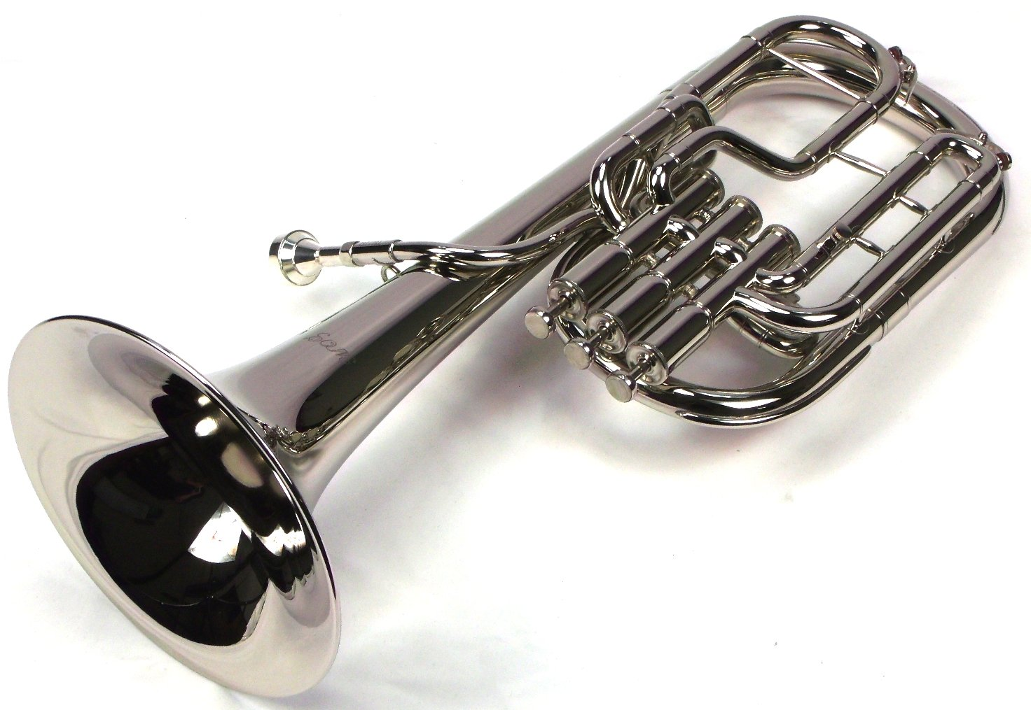 Intermediate Monel Pistons Alto Horn w/Case & Mouthpiece-Nickel Plated Finish by Moz (Image #3)